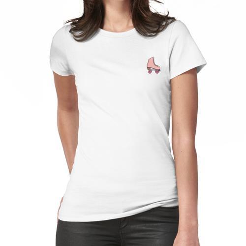 Rosa Rollschuh Frauen T-Shirt