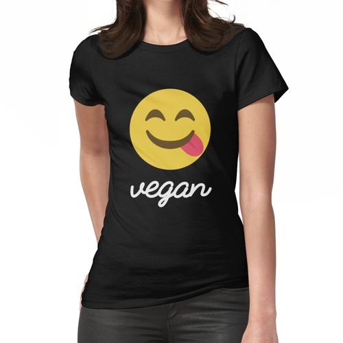 Veganes Emoji Hemd Lustiges veganes Shirt | Vegane T-Shirts Frauen T-Shirt