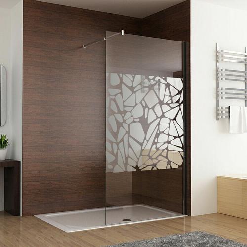 Walk in Dusche Duschwand 100 x 195cm Duschtrennwand Duschabtrennung 8mm NANO Glas mit schutzfolie
