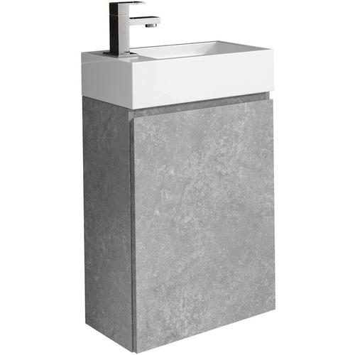 WC Badmöbel Angela 40x22 cm F. Ash - Schrank Waschbecken Badezimmer Toilette