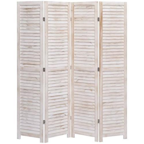 4-tlg. Raumteiler 140×165 cm Holz