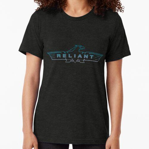 Blaues, zuverlässiges Logo Vintage T-Shirt
