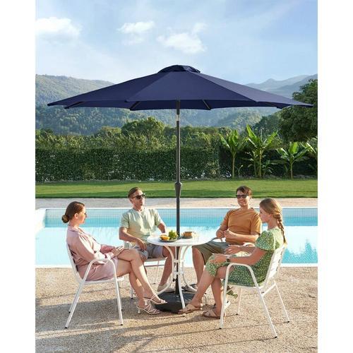 Sonnenschirm, 3 m Durchmesser, Sonnenschutz, achteckiger Gartenschirm aus Polyester, knickbar, mit