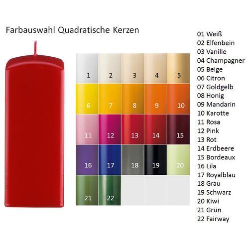 Kopschitz Kerzen Quadratische Kerzen (Quader Kerzen) Grün, 250 x 60 x 60 mm, 6 Stück