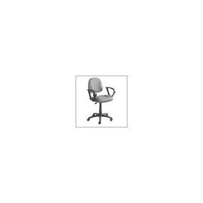 Boss Office Products Adjustable Deluxe Fabric Posture Chair with Loop Arms - Gray
