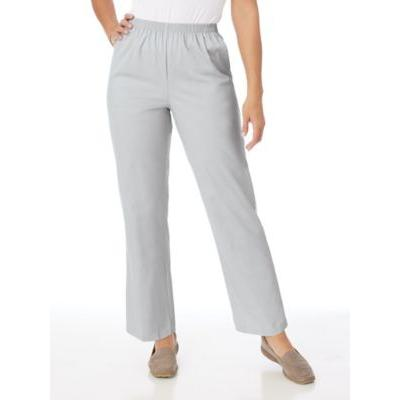 Women's Petite Short Alfred Dunner® Stretch Twill Pants, Silver 18PS