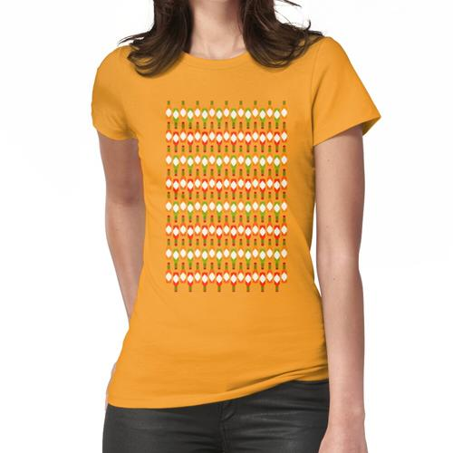 Scharfer Hot Sauce Print in Gelb Frauen T-Shirt