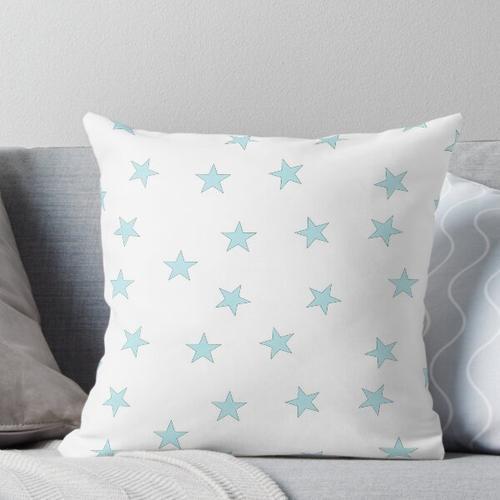 Hellblaue Sterne Kissen