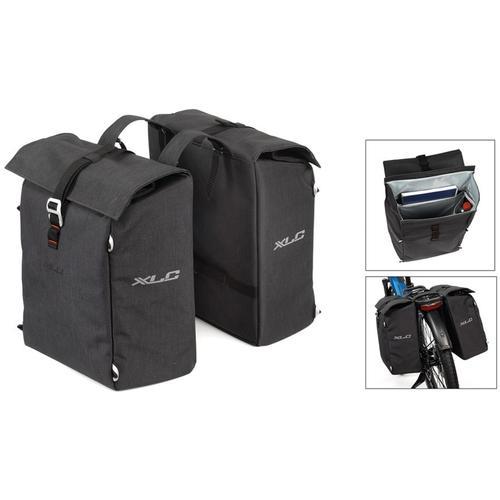 XLC Gepäckträgertasche Doppelpacktasche grau Rad-Ausrüstung Radsport Sportarten