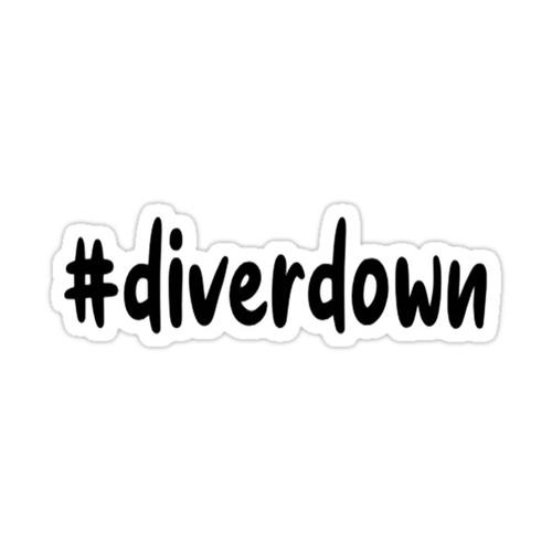 outer banks diver down sticker Sticker