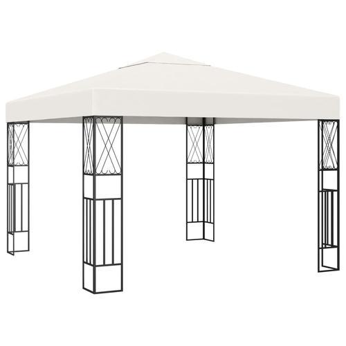 vidaXL Pavillon 3×3 m Creme Stoff