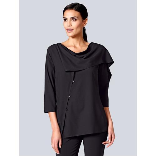 Alba Moda, Bluse mit verschiedenen Tragemöglichkeiten, schwarz