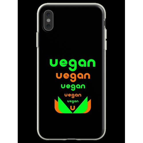 Veganer veganer Veganer Flexible Hülle für iPhone XS Max