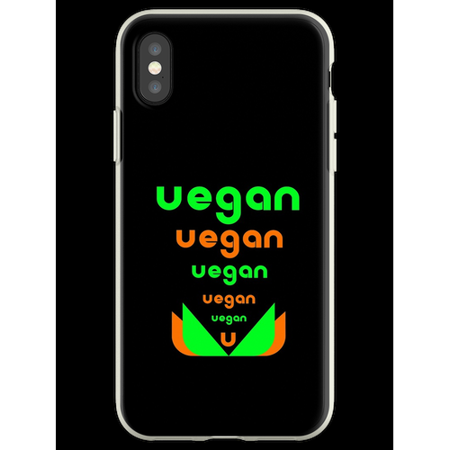 Veganer veganer Veganer Flexible Hülle für iPhone XS