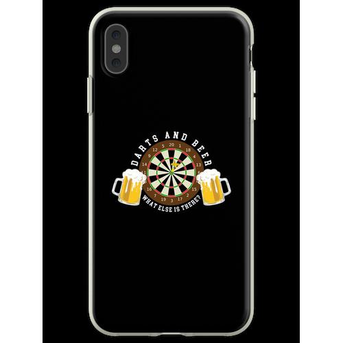 Darts and Beer - Dartscheibe Turnier Sport Spass Flexible Hülle für iPhone XS Max