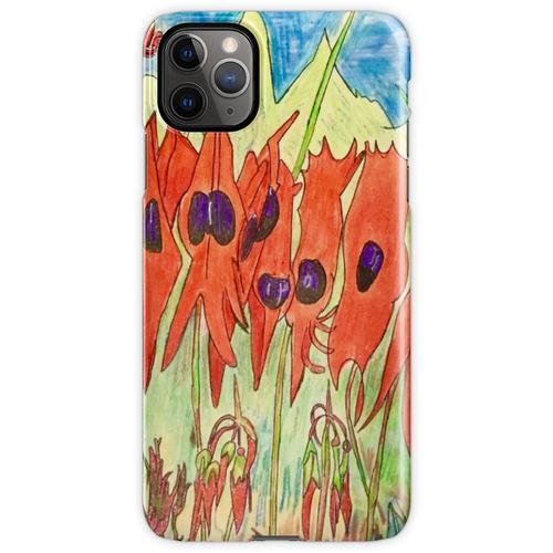 64. Desert Pea und Känguruhpfote iPhone 11 Pro Max Handyhülle