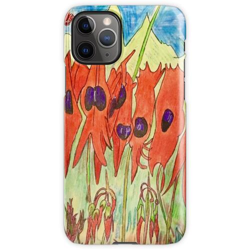 64. Desert Pea und Känguruhpfote iPhone 11 Pro Handyhülle