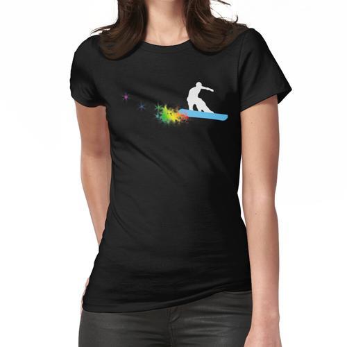 Snowboard: Powder Trail Frauen T-Shirt