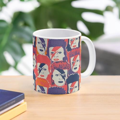 Bowie-Druck Tasse