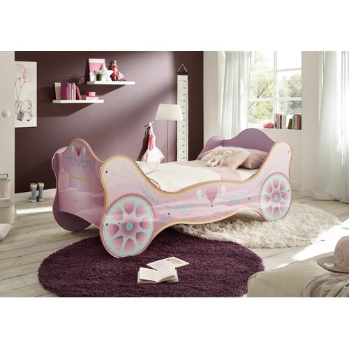 Begabino Prinzessinbett, für kleine Prinzessinen lila Kinder Prinzessinbett Kinderbetten Kindermöbel