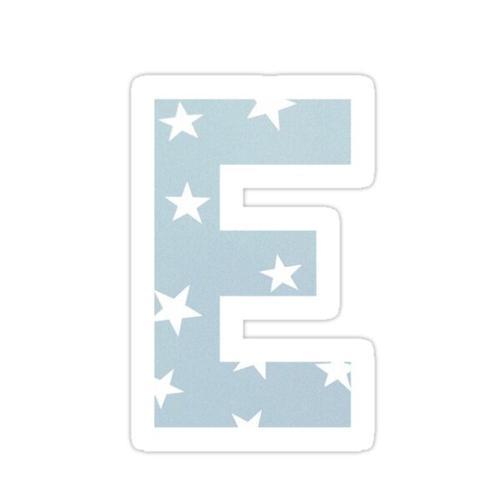 E Sticker Sticker