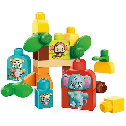 Mega Bloks Safari Freunde (30 Teile), Nachhaltiges Spielzeug, Bauset, Bausteine