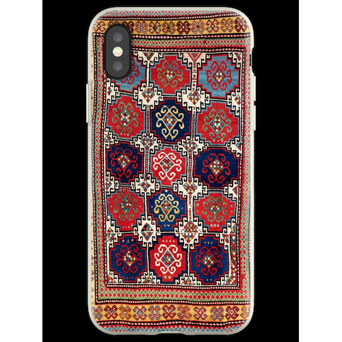 Kazak Antiker kaukasischer Teppich-Druck Flexible Hülle für iPhone XS