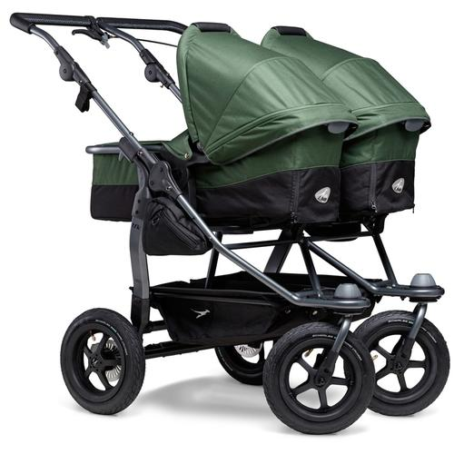 tfk Zwillings-Kombikinderwagen duo, 36 kg, Zwillingskinderwagen; Kinderwagen für Zwillinge; Zwillingswagen grün Kinder Geschwisterwagen Buggies