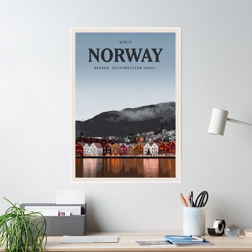 Besuchen Sie Norwegen Poster