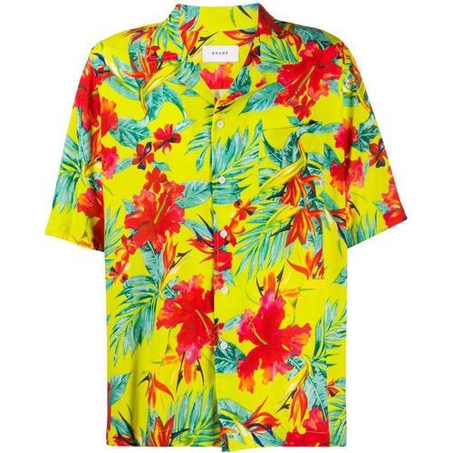 Rhude Hemd mit tropischem Print