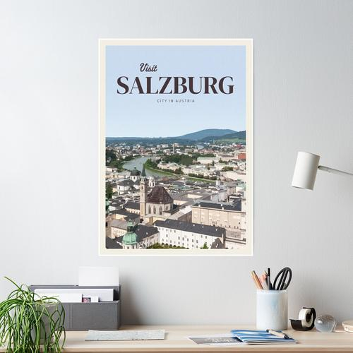 Besuchen Sie Salzburg Poster