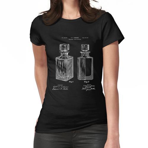Patent Blueprint Art - 1941 Whisky Dekanter Frauen T-Shirt