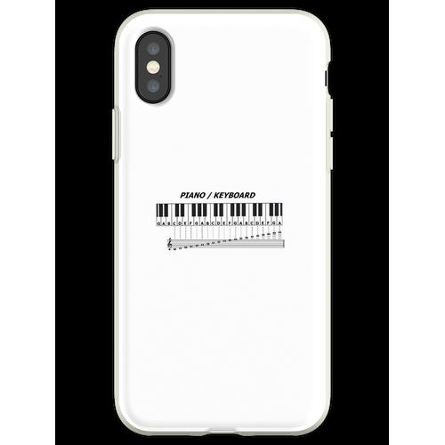 Klavier / Keyboard Flexible Hülle für iPhone XS