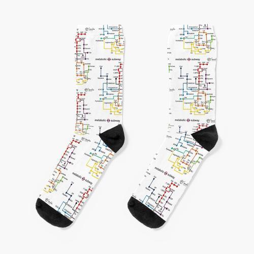 Metabolische U-Bahn Socken