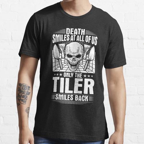 Bodenfliese Bodenfliese Setter Fliesenmann Geschenk Essential T-Shirt