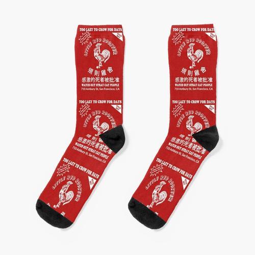 Red Rooster Hot Sauce Socken