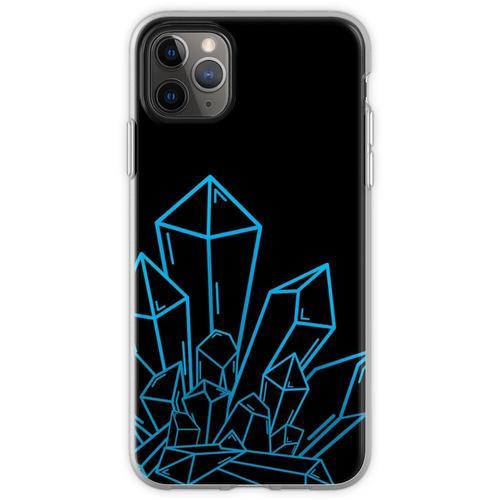 Blauer Kristallblock Auf Schwarzem Flexible Hülle für iPhone 11 Pro Max