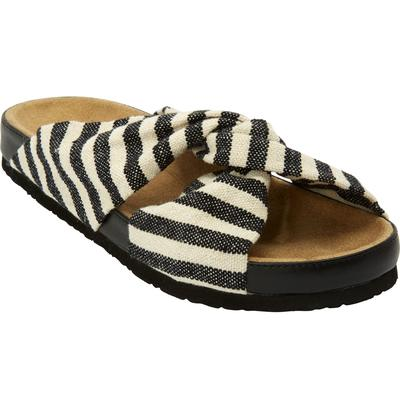 Women's The Reese Footbed Sandal by Comfortview in Black (Size 10 M)