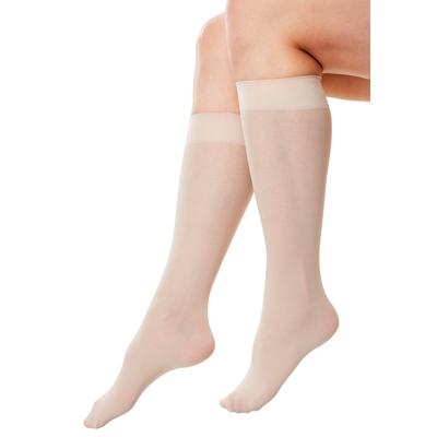 Plus Size Women's 3-Pack Knee-High Support Socks by Comfort Choice in Nude (Size 2X)
