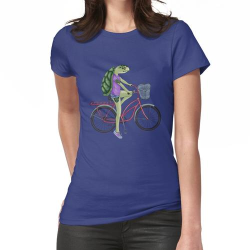 Schildkröte auf dem Fahrrad Frauen T-Shirt