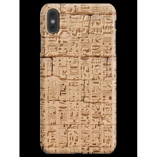 Hieroglyphen bei Medinet Habu iPhone XS Max Handyhülle