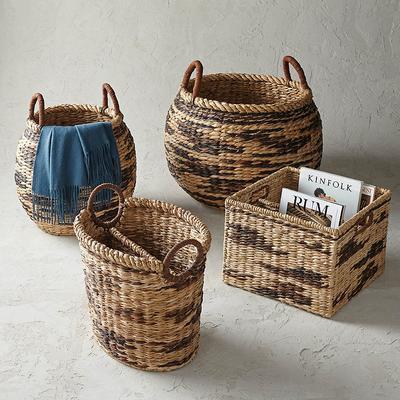 Safa Woven Baskets - Large Round...