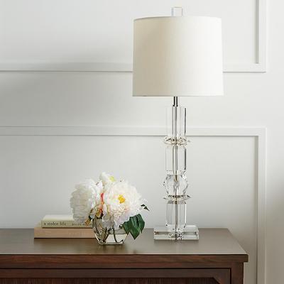 Diana Crystal Buffet Lamp - Grey - Frontgate