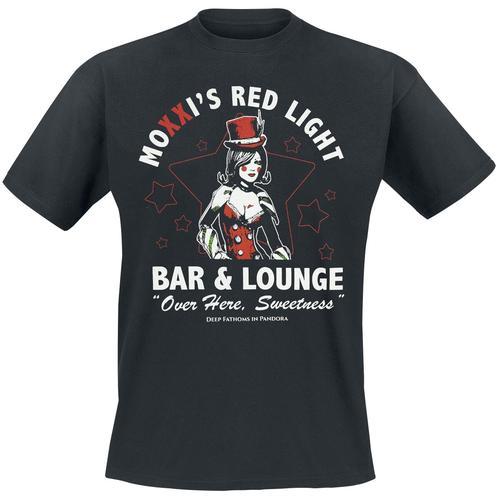 Borderlands Mad Moxxi - Moxxi's Red Light Herren-T-Shirt - schwarz - Offizieller & Lizenzierter Fanartikel