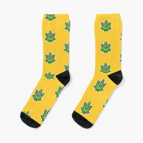 Nettes Hanfblatt. Socken