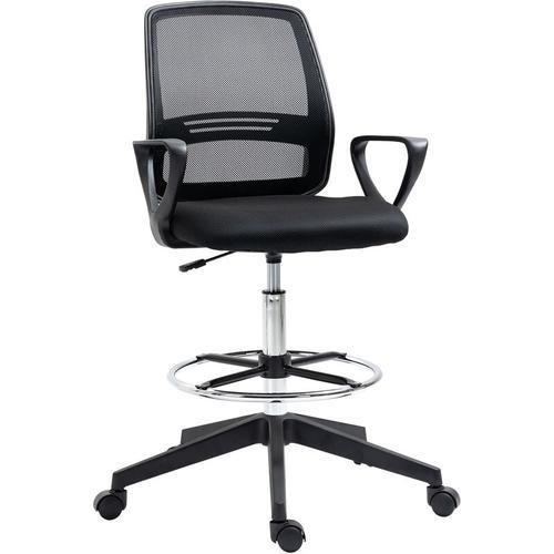 Vinsetto® Chefsessel Bürostuhl ABS Metall Schwarz - schwarz