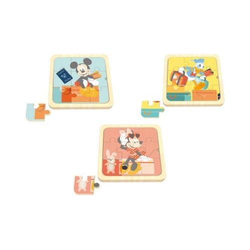 3 in1 Mini Puzzle, Mickey Mouse, Minnie Mouse, Donald Duck