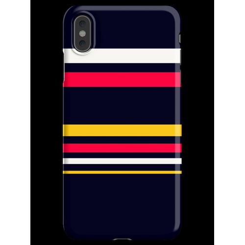 Flache Streifen iPhone XS Max Handyhülle