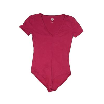 SO Bodysuit: Pink Solid Clothing...