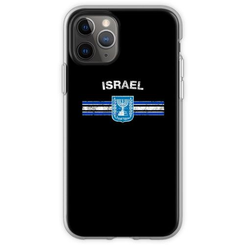 Israelische Flagge Shirt - israelisches Emblem & Israel Flag Sh Flexible Hülle für iPhone 11 Pro